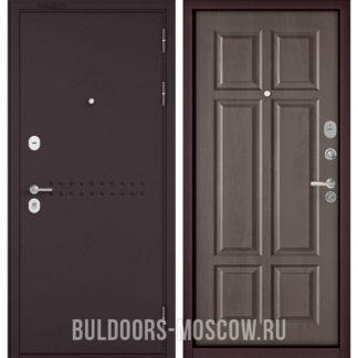 Заказать металлическую дверь Бульдорс Mass-90 Букле шоколад R-4/Дуб шале серебро 9S-109