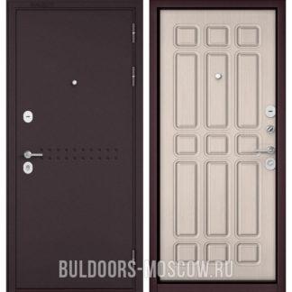 Входная стальная дверь Бульдорс Mass-90 Букле шоколад R-4/Ларче бьянко 9S-111
