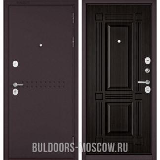 Металлическая дверь Бульдорс Mass-90 Букле шоколад R-4/Ларче темный 9S-104