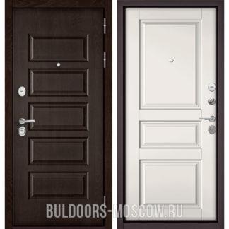 Металлическая дверь Бульдорс Mass-90 Ларче шоколад 9S-108/Белый софт 9SD-2