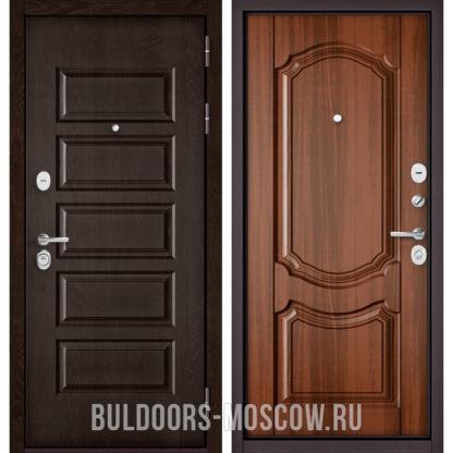 Заказать стальную дверь Бульдорс Mass-90 Ларче шоколад 9S-108/Орех лесной 9SD-4