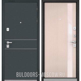Входная дверь Бульдорс PREMIUM-90 Черный шелк D-14/Дуб светлый матовый Si-3