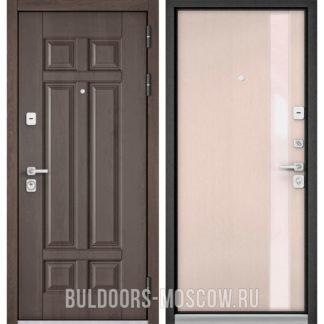 Входная дверь со стеклом Бульдорс Премиум-90 Дуб шале серебро 9Р-115/Дуб светлый матовый Si-3