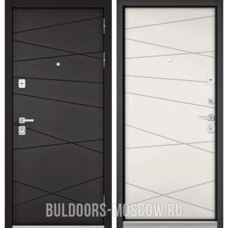 Железная дверь Бульдорс PREMIUM-90 Графит софт 9Р-130/Белый софт 9P-130