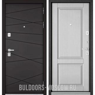 Металлическая дверь Бульдорс Премиум-90 Графит софт 9Р-130/Дуб белый матовый 9PD-1