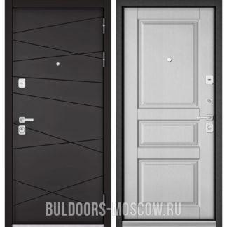Стальная дверь Бульдорс PREMIUM-90 Графит софт 9Р-130/Дуб белый матовый 9PD-2