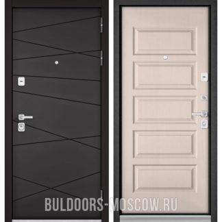 Входная дверь Бульдорс Премиум-90 Графит софт 9Р-130/Дуб светлый матовый 9P-108