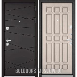 Металлическая входная дверь Бульдорс Премиум-90 Графит софт 9Р-130/Ларче бьянко 9P-111