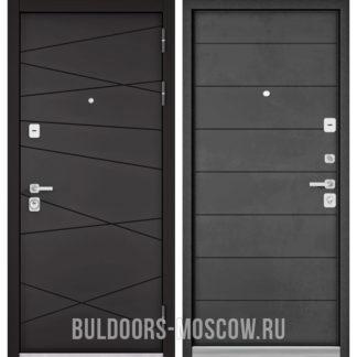 Входная дверь Бульдорс PREMIUM-90 Графит софт 9Р-130/Бетон темный 9P-135