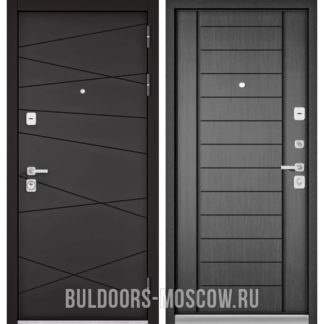 Металлическая входная дверь Бульдорс PREMIUM-90 Графит софт 9Р-130/Дуб серый 9P-137