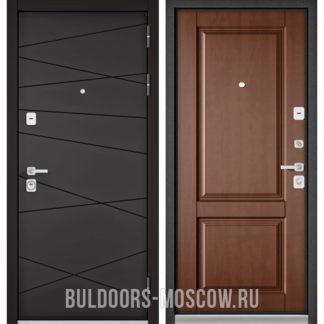 Входная стальная дверь Бульдорс Премиум-90 Графит софт 9Р-130/Карамель 9PD-1