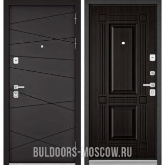 Железная входная дверь Бульдорс PREMIUM-90 Графит софт 9Р-130/Ларче темный 9P-104