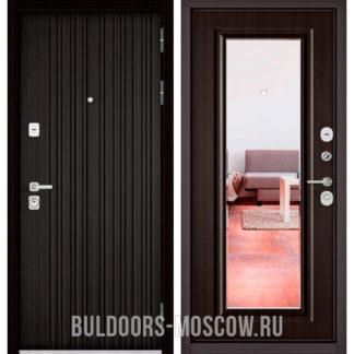 Купить стальную дверь с зеркалом Бульдорс PREMIUM-90 Ларче темный 9Р-131/Ларче темный 9P-140 mirror
