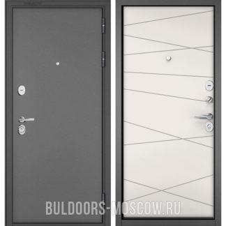 Стальная дверь Бульдорс СТАНДАРТ-90 Букле графит/Белый софт 9S-130