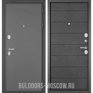Стальная дверь Бульдорс Стандарт-90 Букле графит/Бетон темный 9S-135