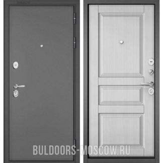 Железная дверь Бульдорс STANDART-90 Букле графит/Дуб белый матовый 9SD-2
