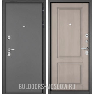 Входная дверь Бульдорс STANDART-90 Букле графит/Дуб шале белый 9SD-1