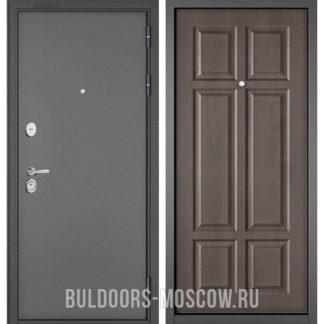 Входная дверь Бульдорс Стандарт-90 Букле графит/Дуб шале серебро 9S-109