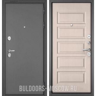 Входная металлическая дверь Бульдорс STANDART-90 Букле графит/Дуб светлый матовый 9S-108