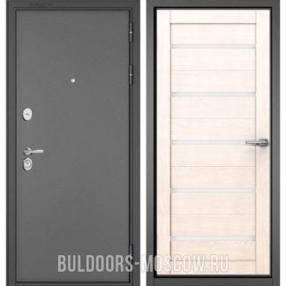 Входная стальная дверь Бульдорс STANDART-90 Букле графит/Дуб жемчужный CR-3