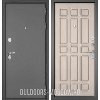 Стальная дверь Бульдорс STANDART-90 Букле графит/Ларче бьянко 9S-111