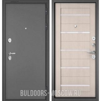 Входная дверь Бульдорс Стандарт-90 Букле графит/Ларче Бьянко CR-3