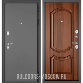 Стальная входная дверь Бульдорс STANDART-90 Букле графит/Орех лесной 9SD-4