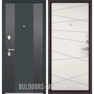 Железная дверь Бульдорс Standart-90 Черный шелк 9К-4/Белый софт 9S-130