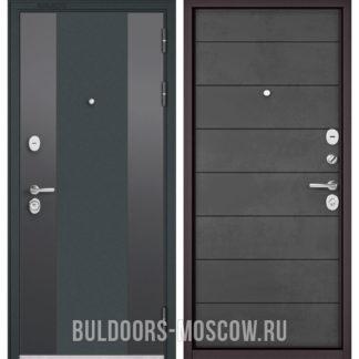 Стальная дверь в квартиру Бульдорс STANDART-90 Черный шелк 9К-4/Бетон темный 9S-135