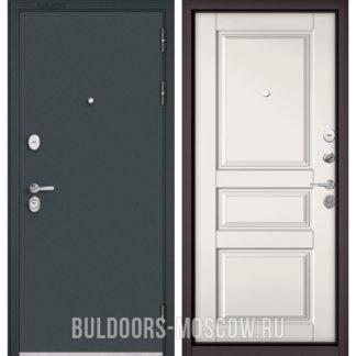 Стальная дверь Бульдорс STANDART-90 Черный шелк/Белый софт 9SD-2