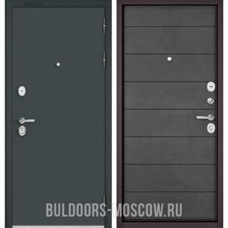 Металлическая дверь Бульдорс STANDART-90 Черный шелк/Бетон темный 9S-135