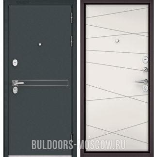 Стальная дверь Бульдорс STANDART-90 Черный шелк D-4/Белый софт 9S-130