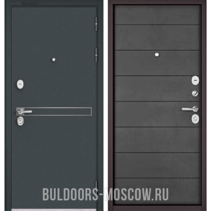 Купить входную стальную дверь Бульдорс STANDART-90 Черный шелк D-4/Бетон темный 9S-135