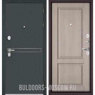 Железная входная дверь Бульдорс Стандарт-90 Черный шелк D-4/Дуб шале белый 9SD-1