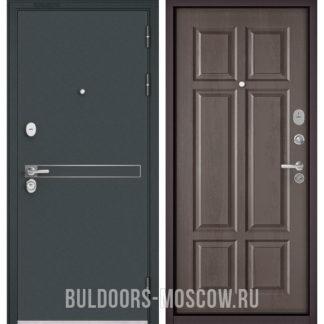 Железная дверь Бульдорс STANDART-90 Черный шелк D-4/Дуб шале серебро 9S-109
