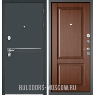 Стальная дверь Бульдорс Стандарт-90 Черный шелк D-4/Карамель 9SD-1