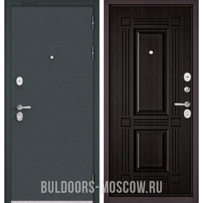 Металлическая дверь Бульдорс STANDART-90 Черный шелк/Ларче темный 9S-104
