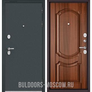 Заказать в Москве металлическую входную дверь Бульдорс STANDART-90 Черный шелк/Орех лесной 9SD-4