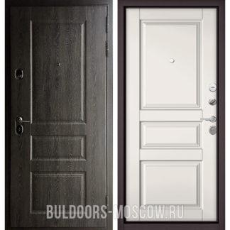 Входная железная дверь Бульдорс Стандарт-90 Дуб графит 9SD-2/Белый софт 9SD-2