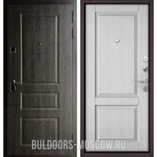 Входная дверь Бульдорс Стандарт-90 Дуб графит 9SD-2/Дуб белый матовый 9SD-1