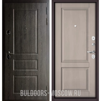 Входная дверь Бульдорс STANDART-90 Дуб графит 9SD-2/Дуб шале белый 9SD-1