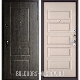 Входная железная дверь Бульдорс STANDART-90 Дуб графит 9SD-2/Дуб светлый матовый 9S-108