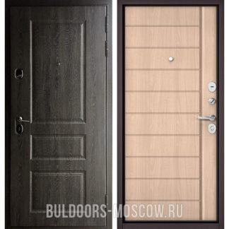 Стальная дверь Бульдорс STANDART-90 Дуб графит 9SD-2/Ясень ривьера крем 9S-136
