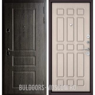Железная дверь Бульдорс STANDART-90 Дуб графит 9SD-2/Ларче бьянко 9S-111