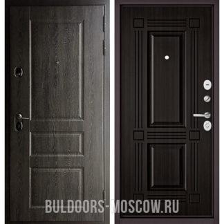 Металлическая входная дверь Бульдорс STANDART-90 Дуб графит 9SD-2/Ларче темный 9S-104