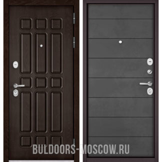 Заказать в Москве железную входную дверь Бульдорс STANDART-90 Дуб Шоколад 9S-111/Бетон темный 9S-135