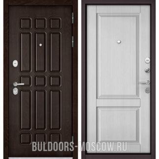 Железная дверь Бульдорс STANDART-90 Дуб Шоколад 9S-111/Дуб белый матовый 9SD-1