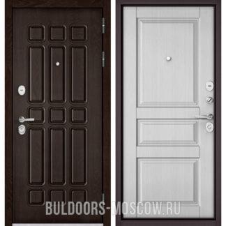 Купить стальную входную дверь Бульдорс STANDART-90 Дуб Шоколад 9S-111/Дуб белый матовый 9SD-2