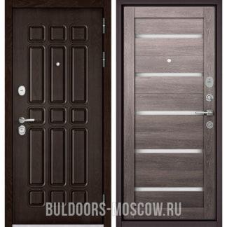 Входная металлическая дверь Бульдорс STANDART-90 Дуб Шоколад 9S-111/Дуб дымчатый CR-3
