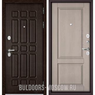 Стальная входная дверь Бульдорс STANDART-90 Дуб Шоколад 9S-111/Дуб шале белый 9SD-1